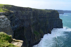 Steep Sheer Sea Cliff`s Known as the Cliff`s of Moher Royalty Free Stock Photo