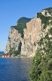 Steep Shore near Limone sul Garda,Lake Garda,Italy Stock Image