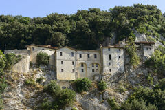 Steep side of Greccio Franciscan monastery, Rieti Stock Photo