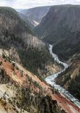 Grand Canyon of the Yellowstone river Wyoming USA royalty free stock photography