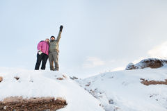 On steep slope Royalty Free Stock Images