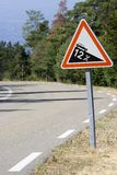 Steep slope traffic sign  Stock Photography