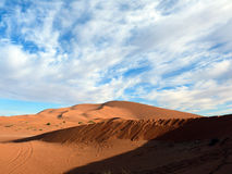 Steep Slopes of Sahara Desert Dunes Stock Photos