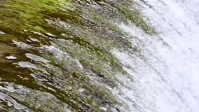 Steep sluice with water stock footage