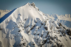 Steep Snow Covered Mountain Top, Alaska Stock Image