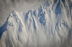 Steep Snow Covered Ridgeline, Alaska Royalty Free Stock Photography