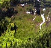Steep spring valley Stock Photo
