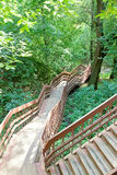 Steep stair in a ravine Stock Photos