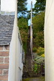 Steep staircase at Plockton. Steep staircase between houses at Plockton, Scotland (the setting for the television series Hamish Macbeth with Robert Carlyle Stock Photography
