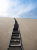 Steep stairs going on top of sand Dune of Pyla Stock Photography