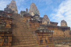 Steep stairs at Pre Rup Stock Photography