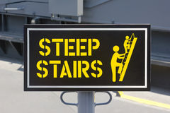 Steep Stairs Royalty Free Stock Images