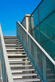 Steep stairs into the sky Royalty Free Stock Photography