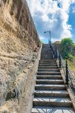 Steep stairs to the hill. Stock Photos