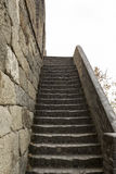Steep Stairway to the Great Wall in China Stock Photo