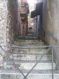 Steep steps in an alley Stock Photography