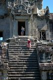 Steep steps at Angkor Wat Royalty Free Stock Photo