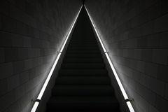 Steep steps in the dark Royalty Free Stock Images