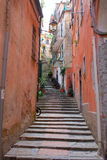 Steep Steps in Italian Village Royalty Free Stock Images