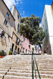 Steep steps in Lisbon Royalty Free Stock Photos