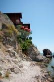 Steep stone beach of Sozopol, Bulgaria Stock Images