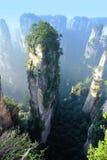 Steep stone mountain at zhangjiajie Royalty Free Stock Photo