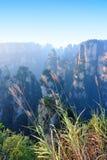 Steep stone mountain at zhangjiajie Stock Photo