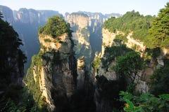 Steep stone mountain at zhangjiajie Stock Image
