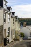 Steep street at Fowey, Cornwall Stock Image