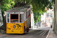 Steep street tram Royalty Free Stock Photos