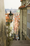 Steep streets of Prague Stock Photos