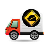 Steep traffic sign concept Royalty Free Stock Photo