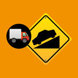 Steep traffic sign concept Stock Image