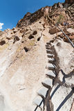 Steep trail, Bandelier National Monument. Native American ruins trail, Bandelier National Monument, New Mexico Royalty Free Stock Photography