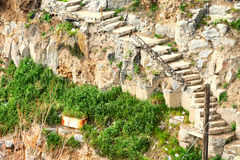 Steep trail with stone steps Royalty Free Stock Image