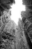 Steep Tsingy BW Royalty Free Stock Photography