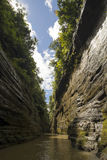 Steep walls of a river canyon Stock Photography