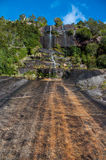 Steep waterfall in Carretera Austral, Highway 7, Chile Royalty Free Stock Images