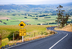 Steep winding road in New Zealand Stock Photo