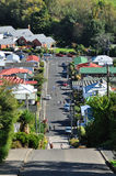 The steepest street in the world. Baldwin Street is the steepest street in the world stock photography