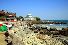 Steephill Cove, Isle of Wight. The privately owned village and beach of Steephill Cove, Isle of Wight, England, UK Stock Image