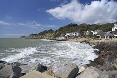 Steephill Cove Isle of Wight. On a sunny day UK view looking west Stock Photos