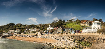 Steephill Cove, Ventnor, Isle of Wight. A classic English seaside cove on the Isle of Wight, England Royalty Free Stock Photos