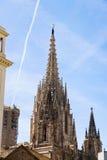 steeple собора barcelona готский Стоковые Фото