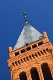 steeple церков перекрестный Стоковая Фотография RF