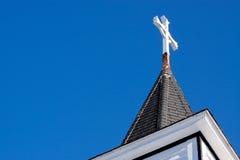 steeple церков перекрестный стоковая фотография