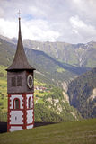 Steeple in the alps Royalty Free Stock Photos