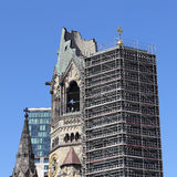 Steeple and belfry of the Kaiser Wilhelm Memorial Church Berlin Stock Photography