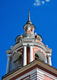 Steeple bell tower with a cross Stock Photo
