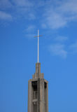 Steeple/Blue Sky Clouds Royalty Free Stock Image